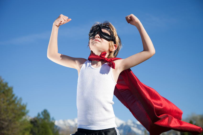 boy with mask and cape