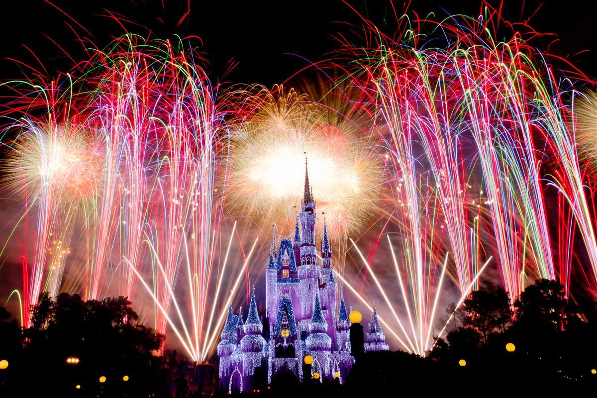 Fireworks t Disney world