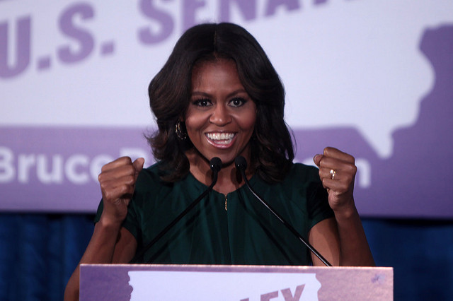 """Michelle Obama: """"Don't be afraid. Be focused. Be determined. Be hopeful. Be empowered."""""""