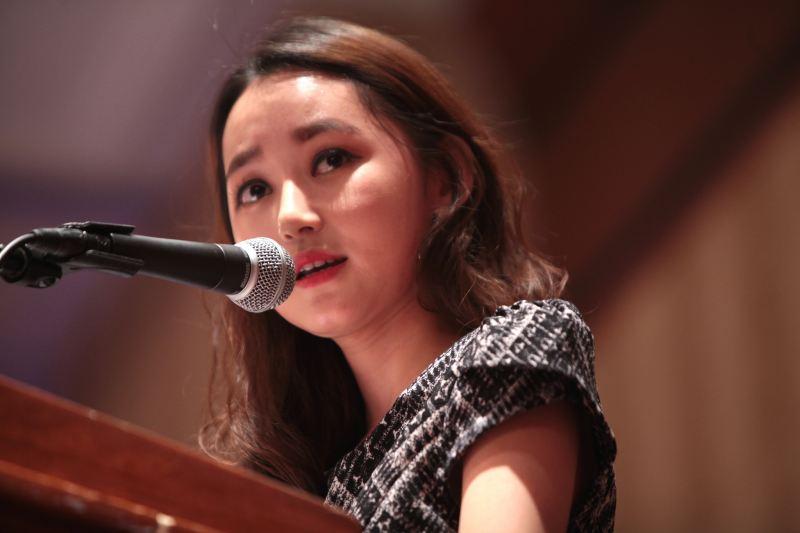 Yeonmi Park presenting