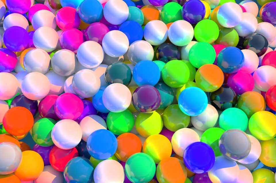 multi couloured balls
