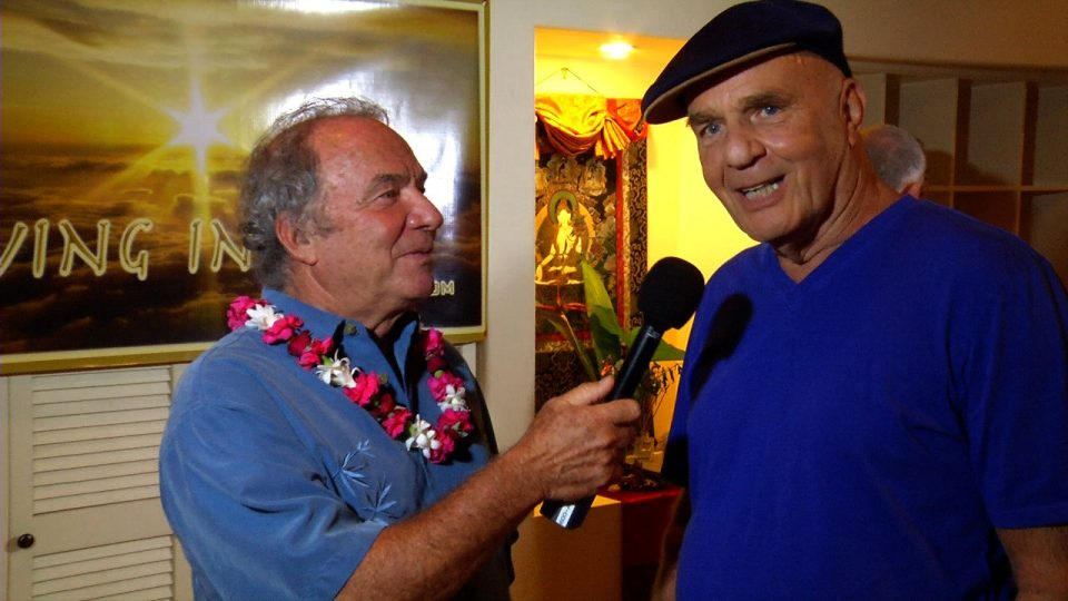 Wayne Dyer being interviewed