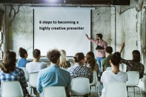 creative presenter with audience