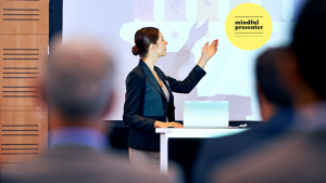 woman presenting using powerpoint